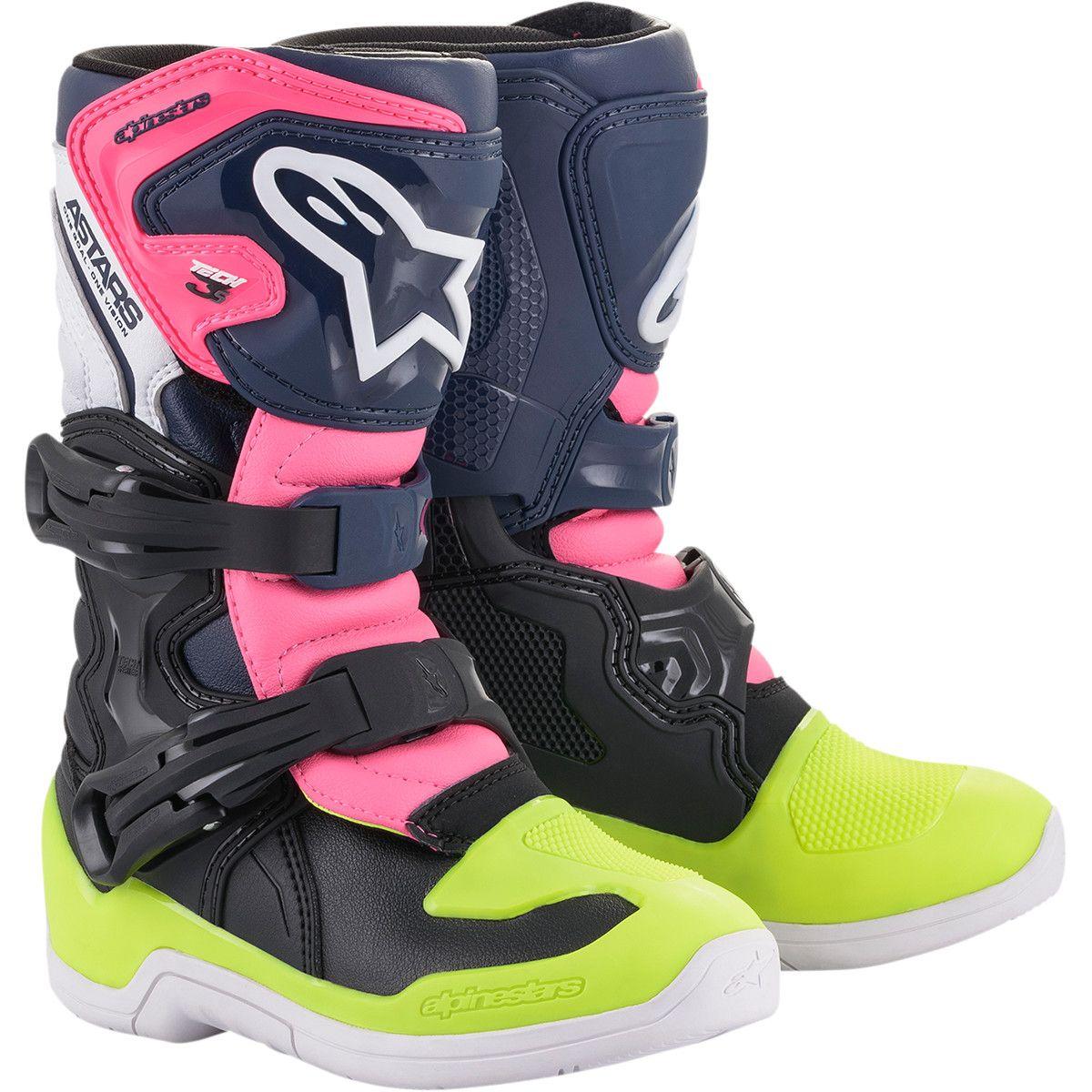 Alpinestars Kids Crosslaarzen Tech 3S Fluo Yellow/Pink