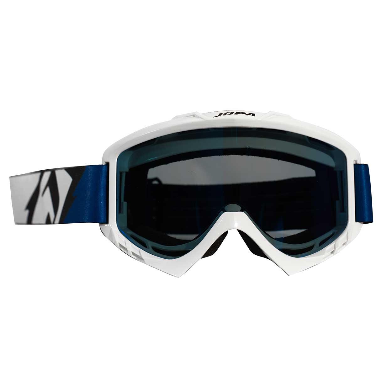 Jopa MX-Goggle Poison White-Blue-Black