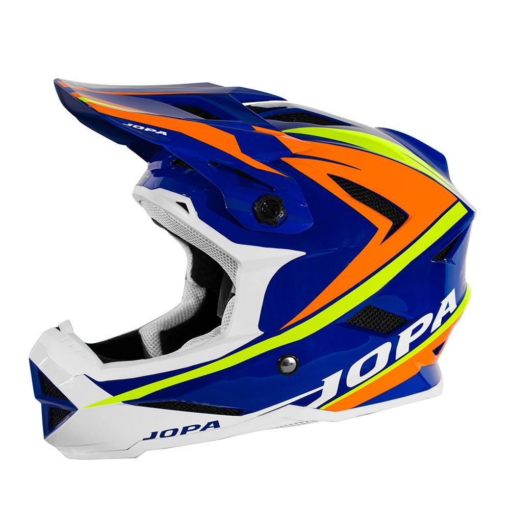Jopa BMX Helm Flash Blue/Orange/Fluor Yellow