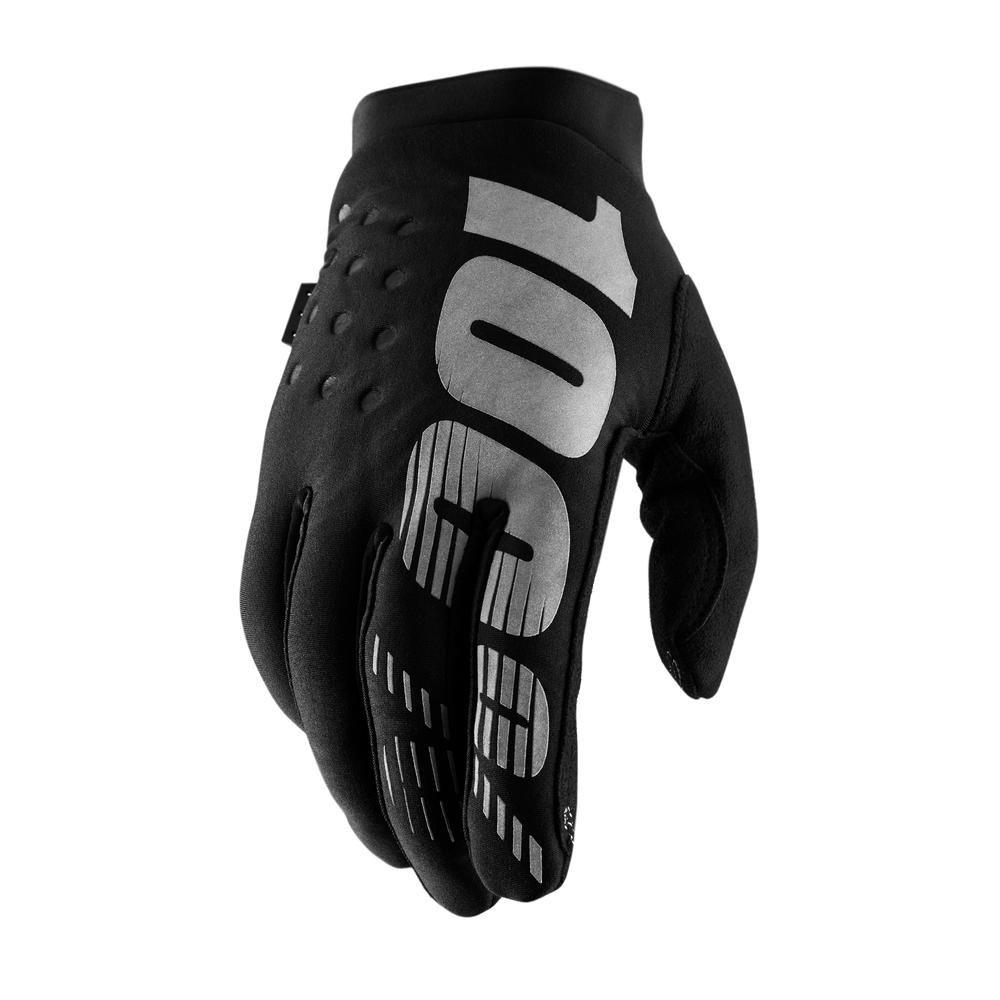 100% Kinder Handschoenen Brisker Black/Grey