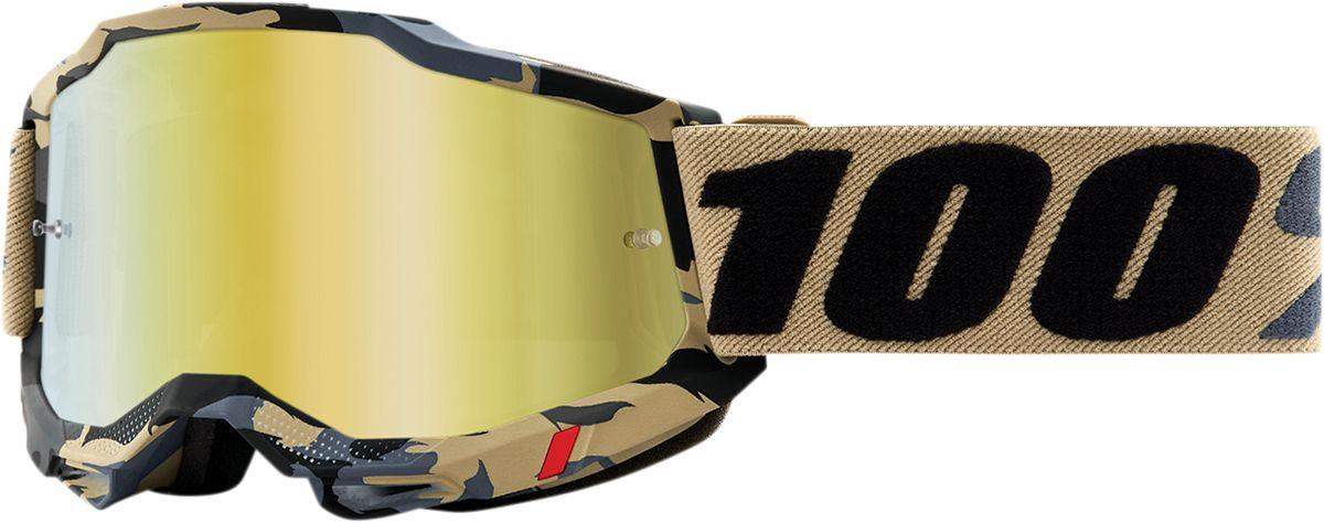 100% Crossbril Accuri 2 Tarmac/Mirror True Gold