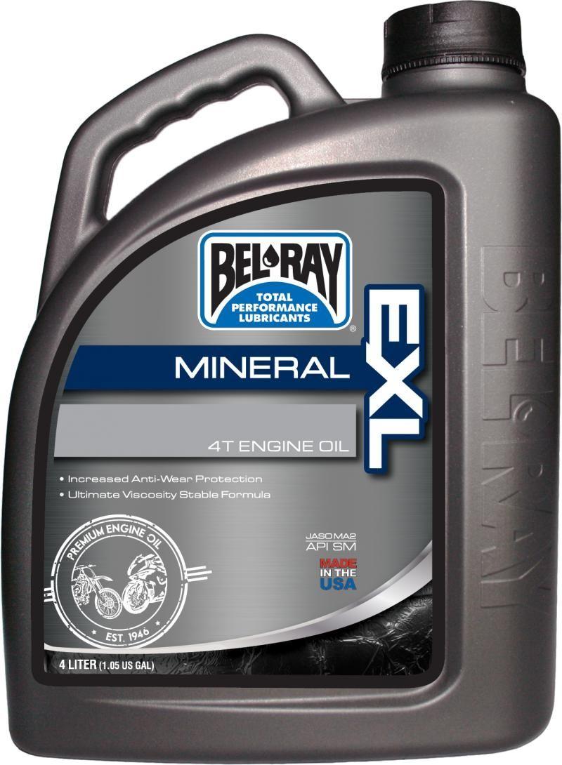 Bel-Ray EXL Mineral 4T Oil 20W-50-4 Liter
