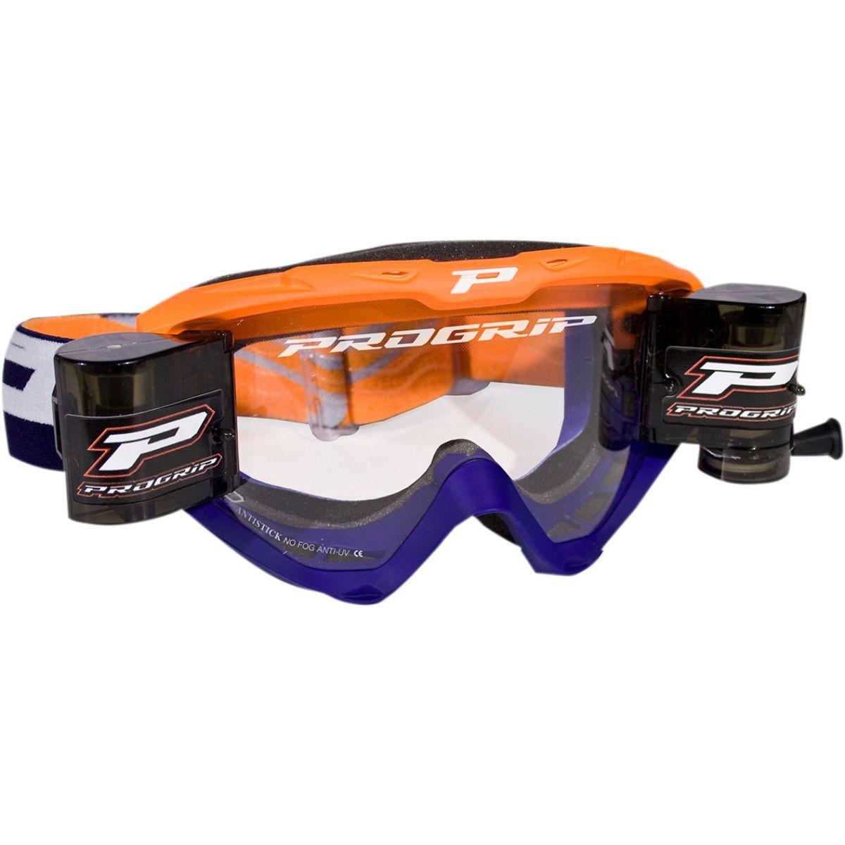 Progrip Crossbril 3450 Roll-Off oranje/blauw