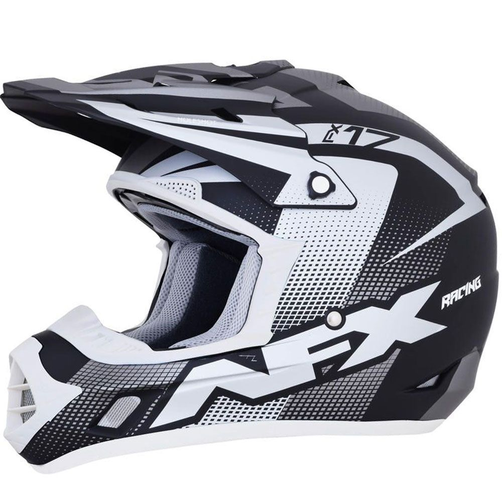 AFX Crosshelm FX-17 Frost Grey/Black/White