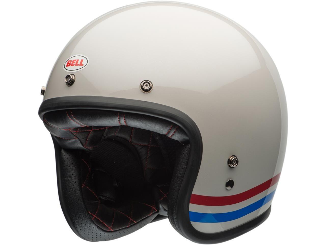 Bell Custom 500 DLX Jethelm Stripes Pearl White