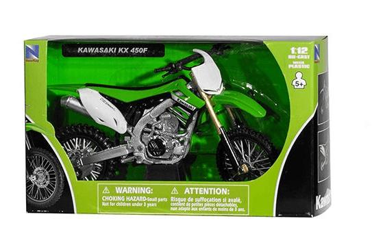Miniatuur motor cross Kawasaki 1:12