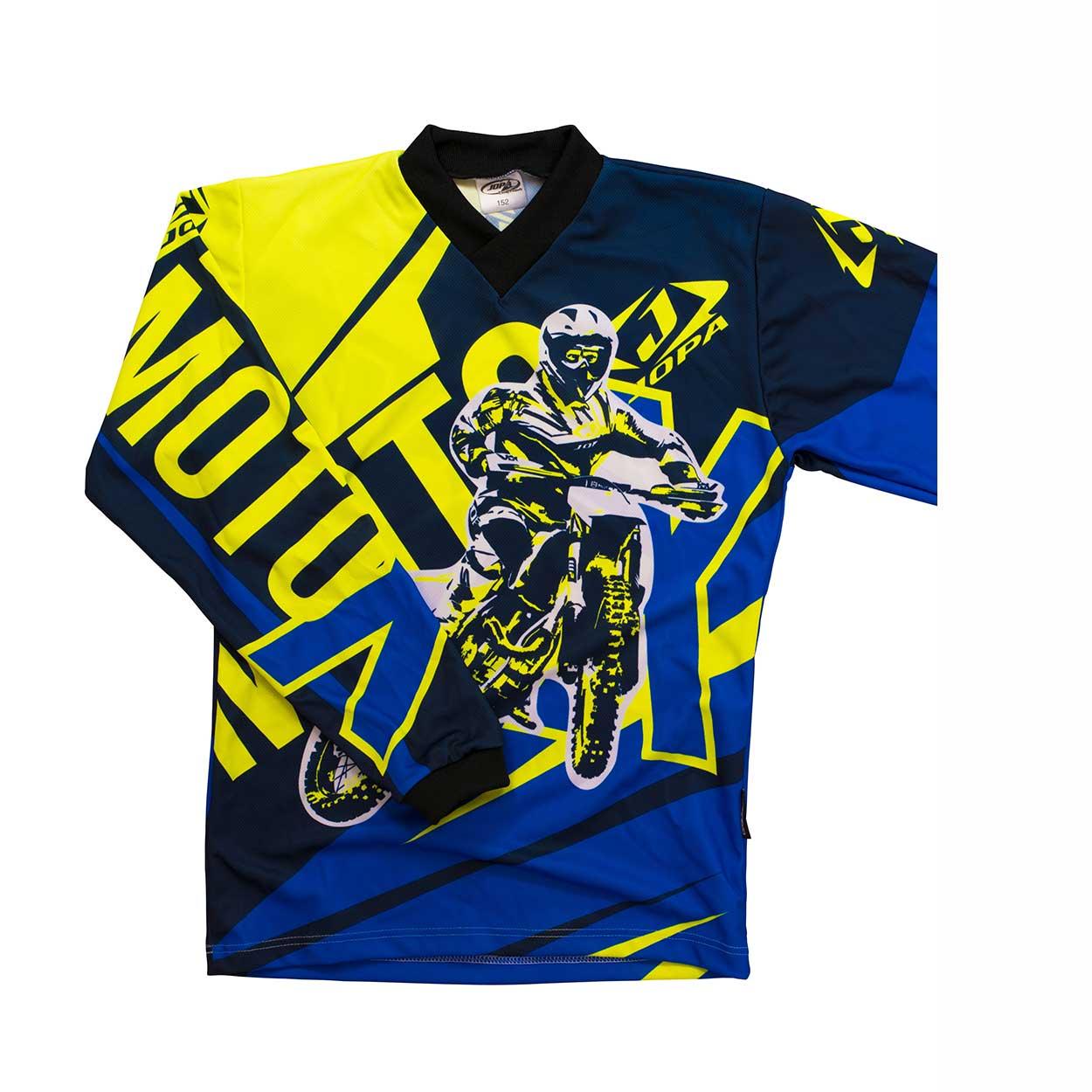 Jopa Kinder Shirt Moto-X Blue/Neon-86