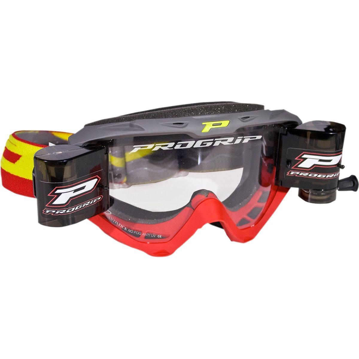 Progrip Crossbril 3450 Roll-Off rood/grijs