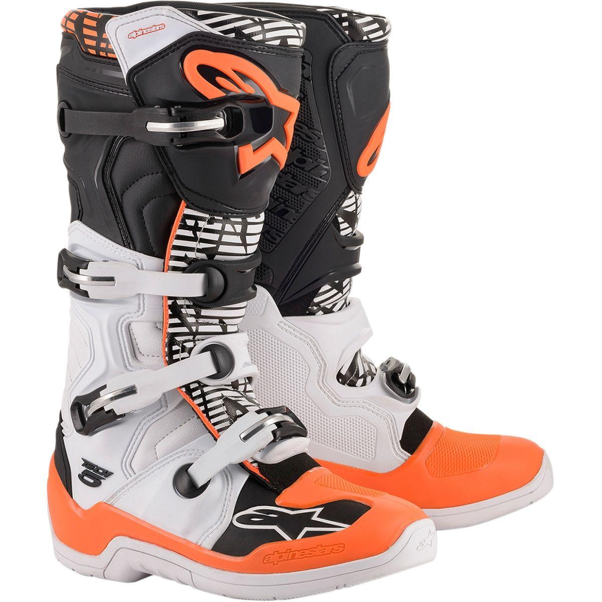 Alpinestars Crosslaarzen Tech 5 Orange/Black/White