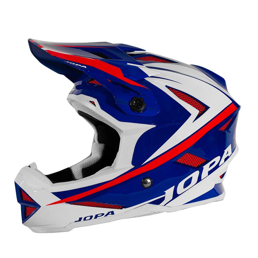 Jopa BMX Helm Flash Blue/White/Red