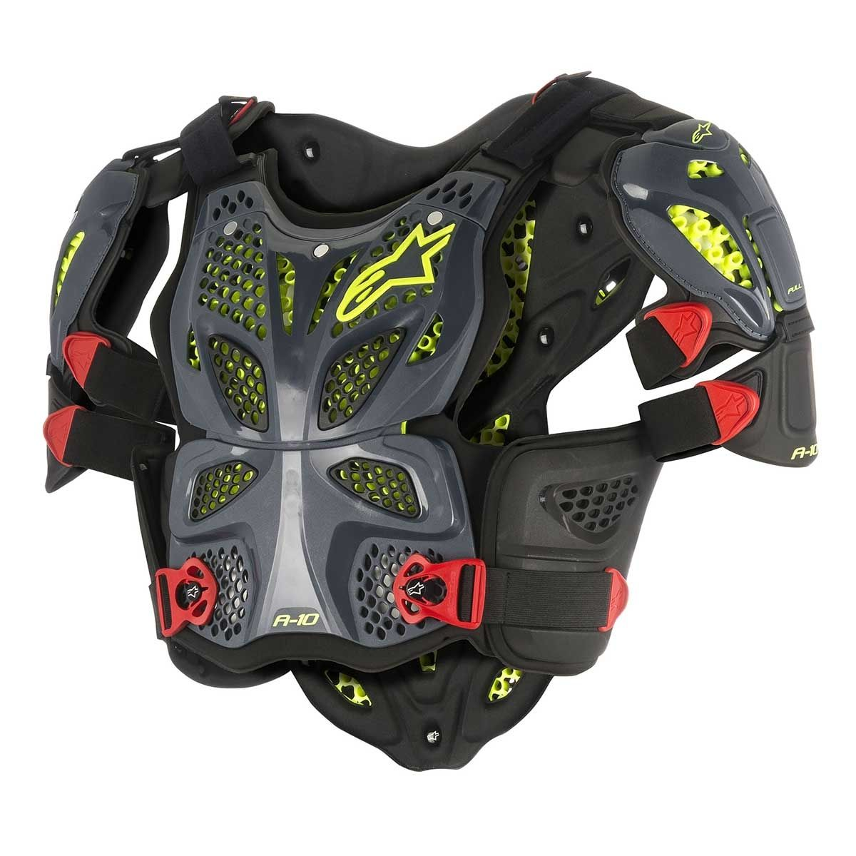 Alpinestars Body Protector A-10 Anthracite/Black/Red