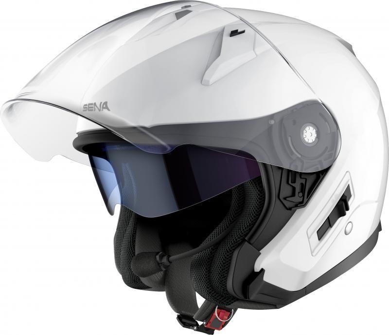 Sena Econo Jethelm open Face Bluetooth Glossy White