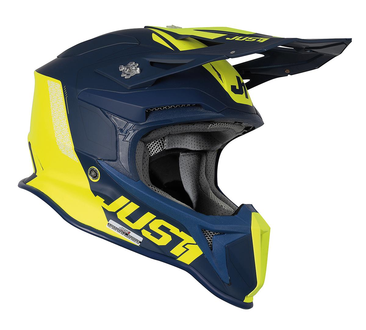 JUST1 Helmet J18 MIPS Pulsar Yellow Fluo/Blue 60-L