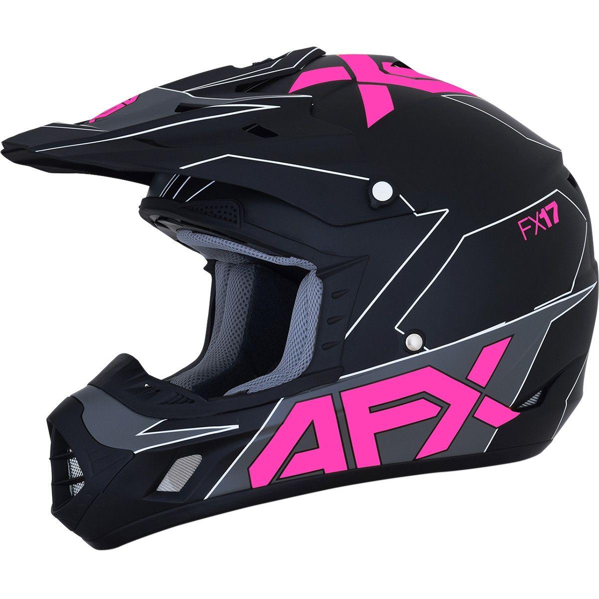 AFX Crosshelm FX-17 Matte Black/Pink