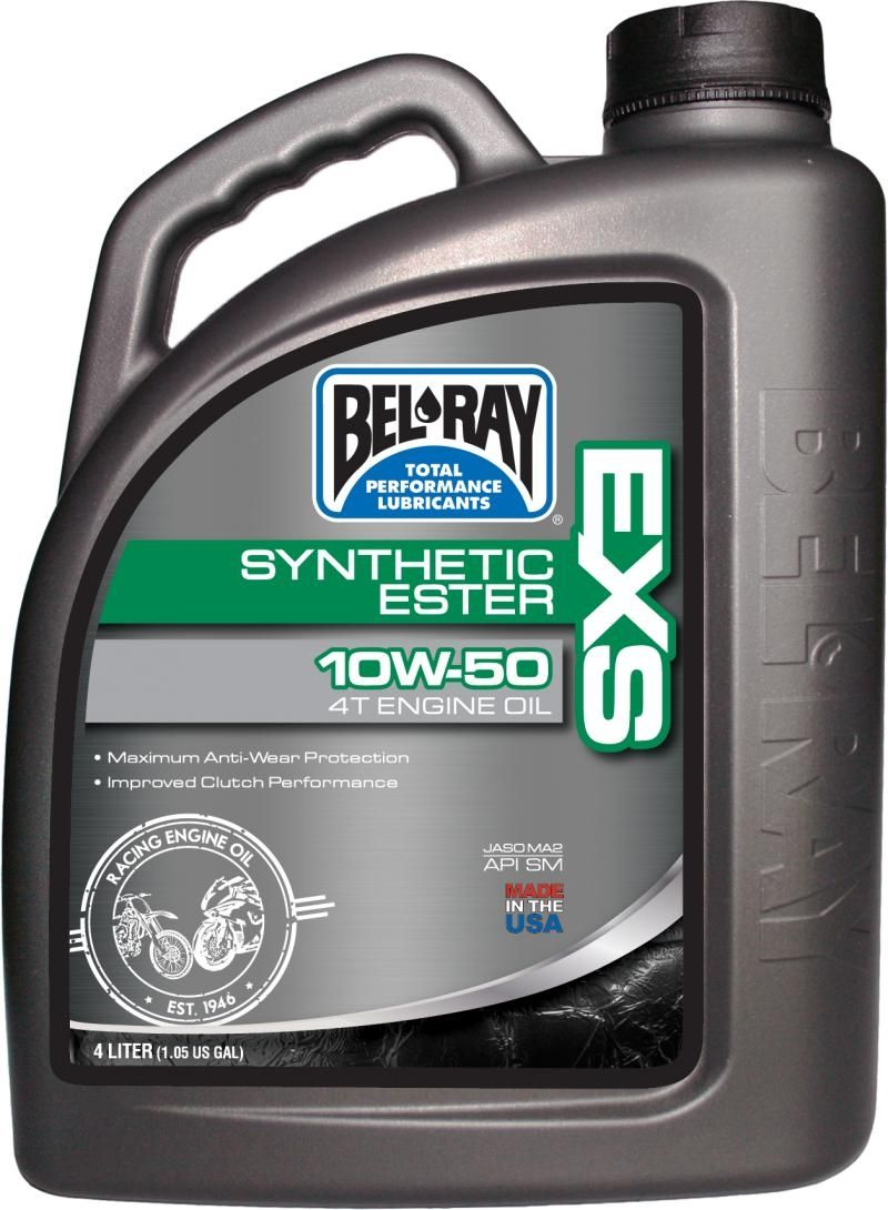 Bel-Ray EXS Full-Synthetic Ester 4T Oil 10W-50 4 Liter
