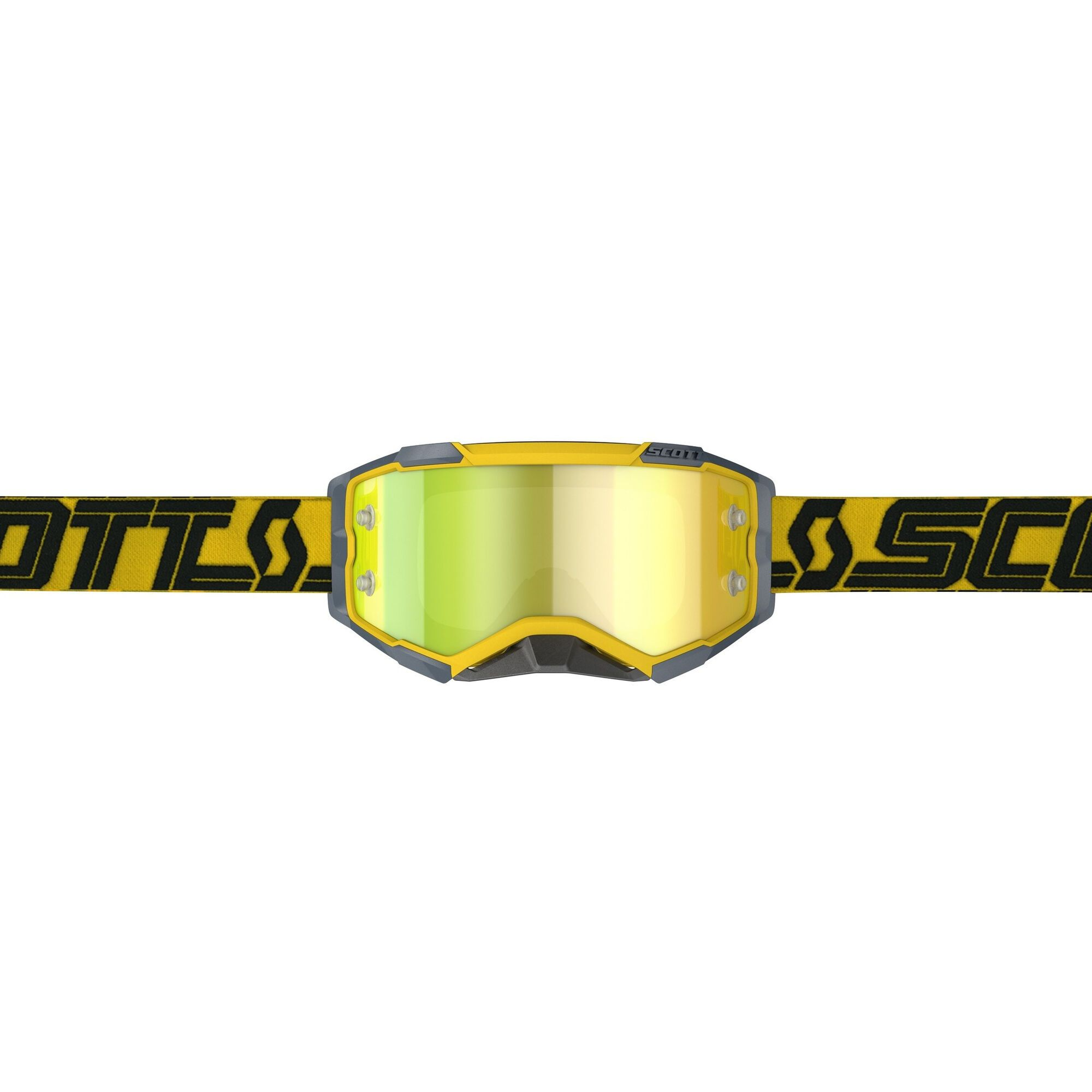 Scott Fury Crossbril Black Yellow Chrome