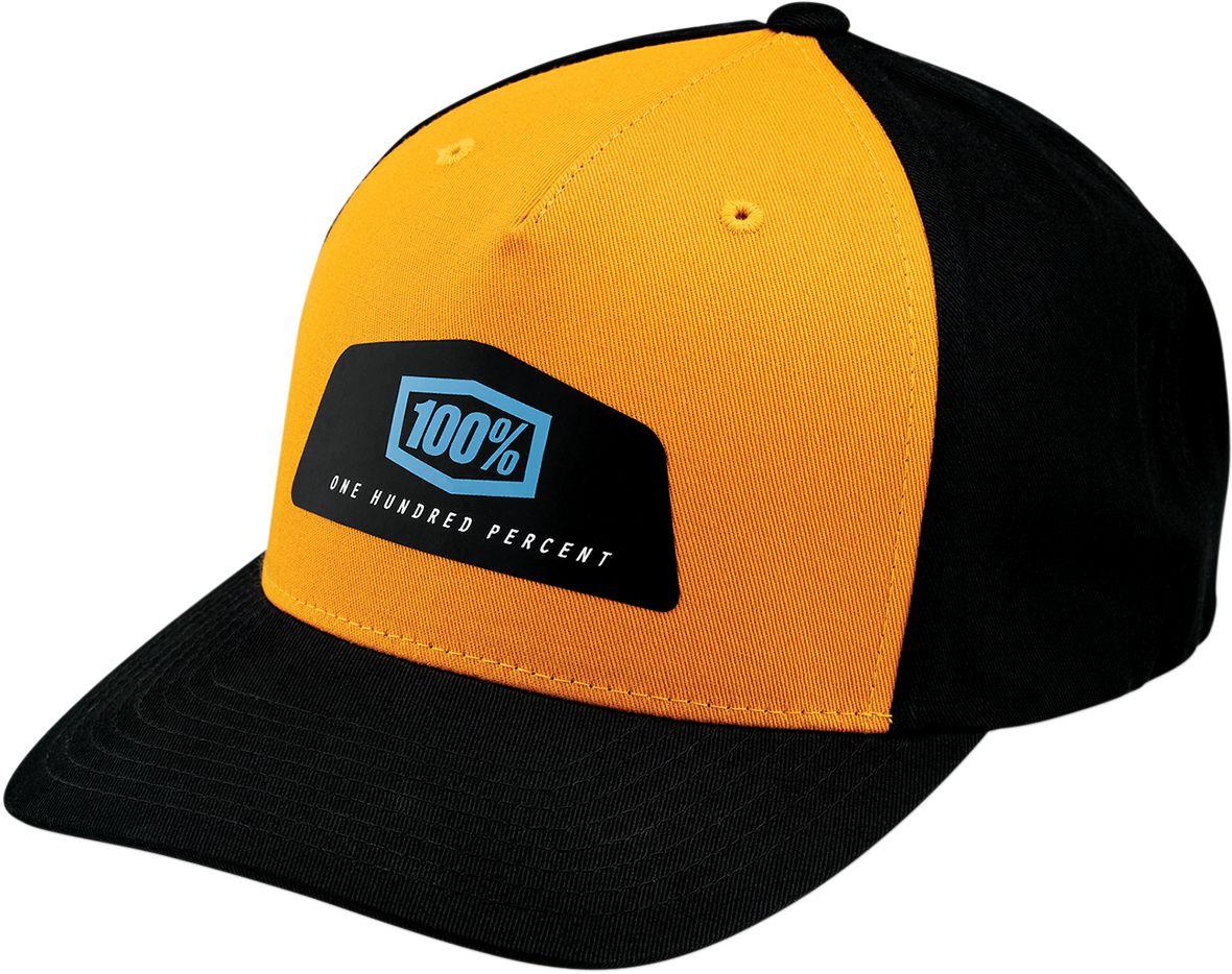 100% Pet Hats Guild Snapback Black/Yellow