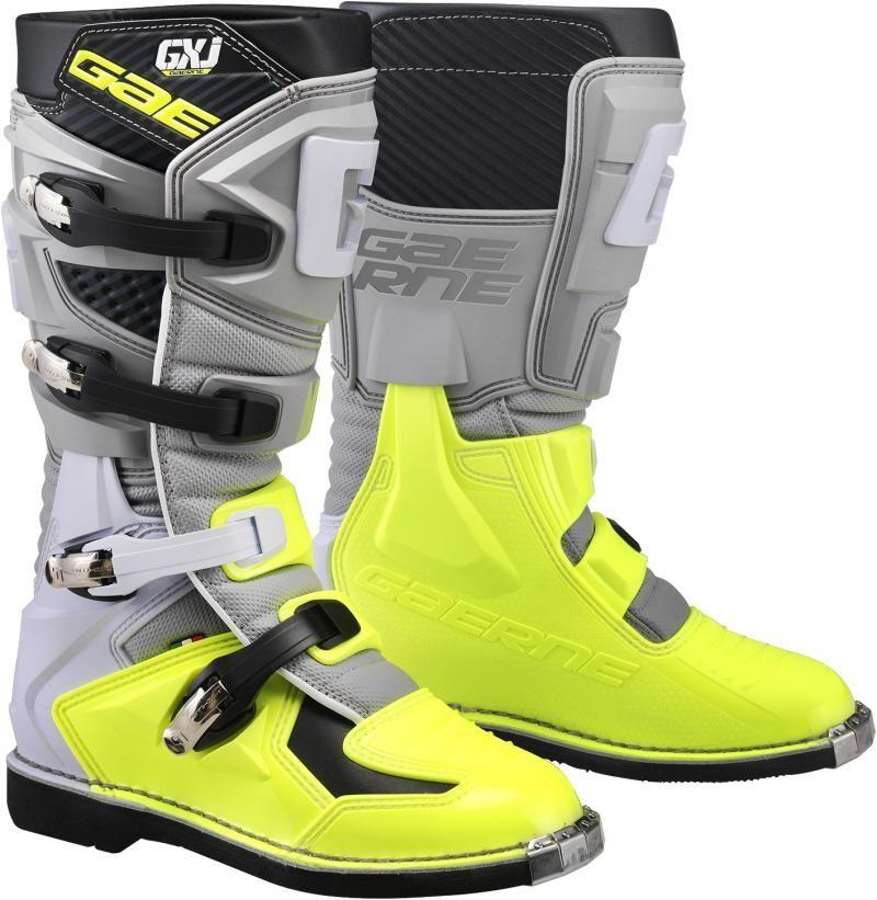 Gaerne GX-J Kinder Crosslaarzen Grey/Fluor Yellow