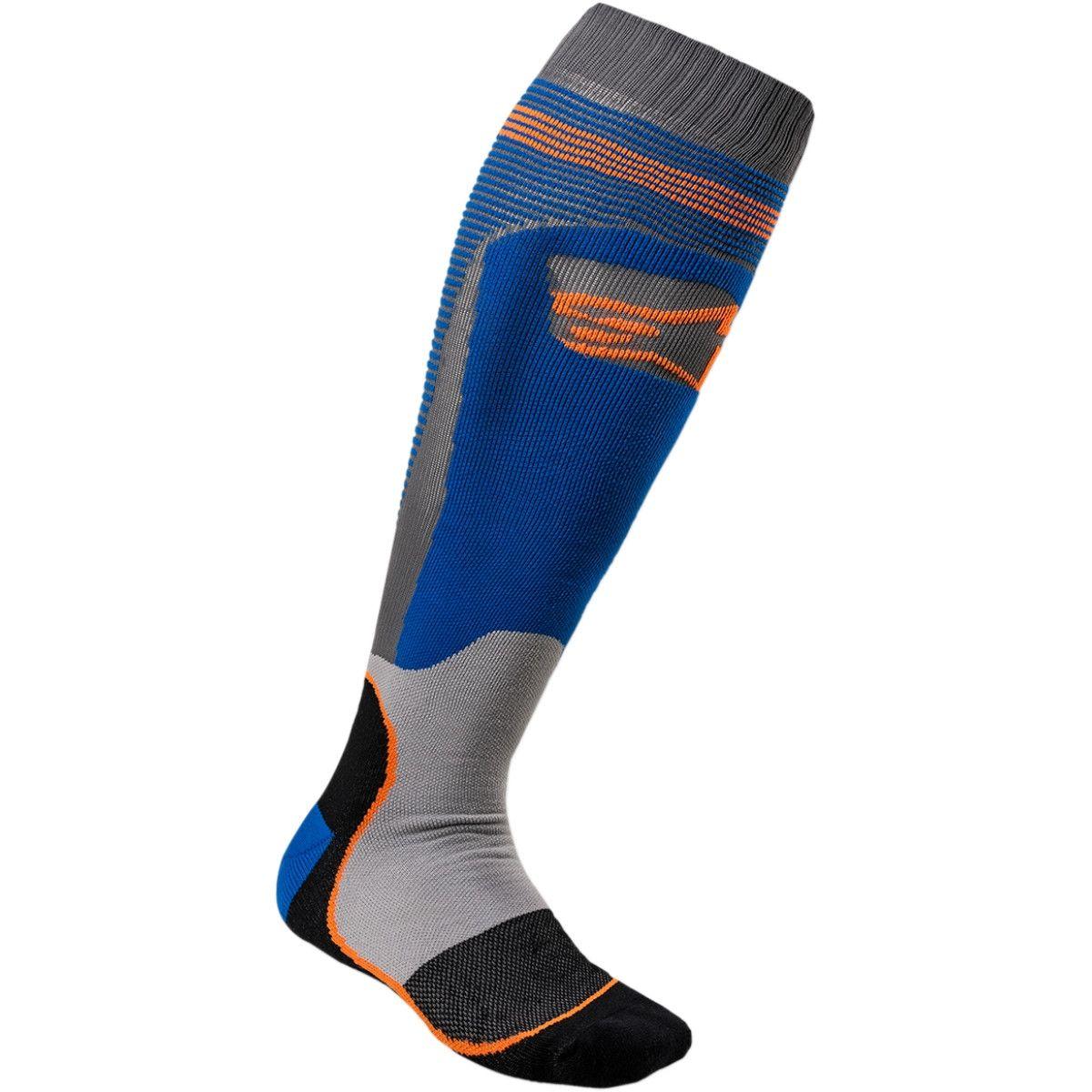 Alpinestars MX Plus Crosssokken Blue/Fluor Orange