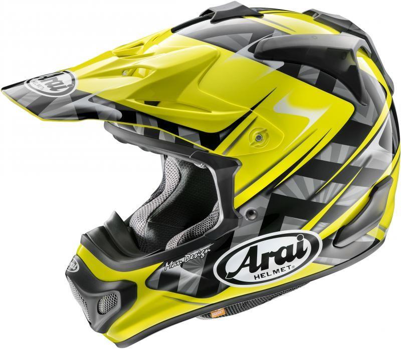 Arai Crosshelm MX-V Scoop Yellow