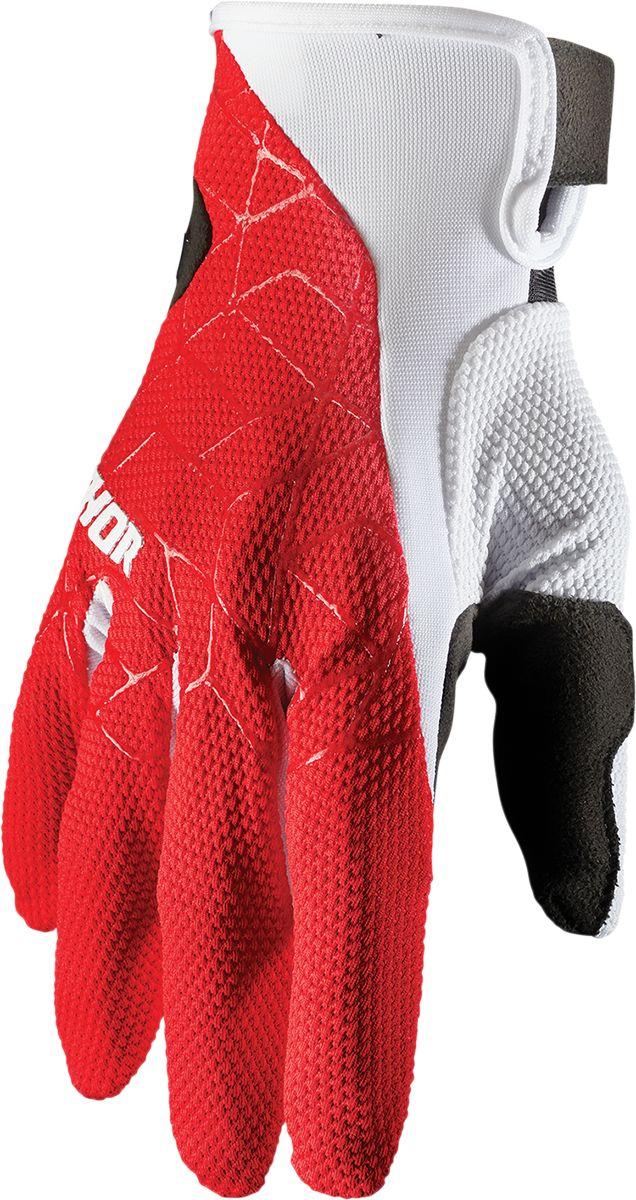 GLOVE DRAFT RED/WHITE XS