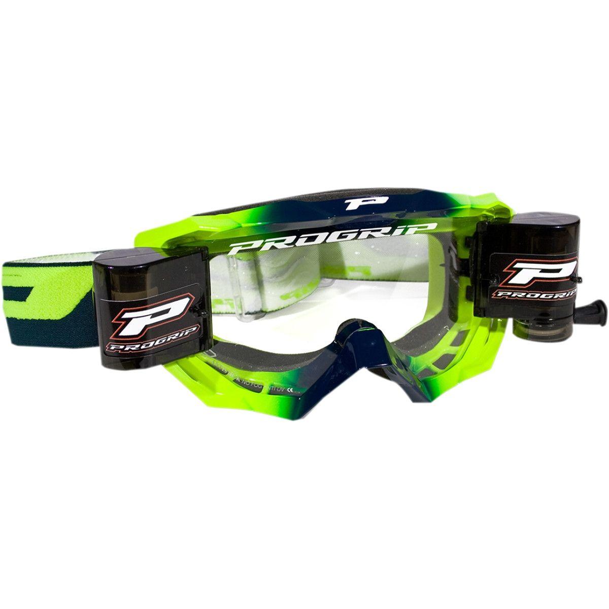 Progrip Crossbril 3200 Venom Roll-Off Fluor Groen