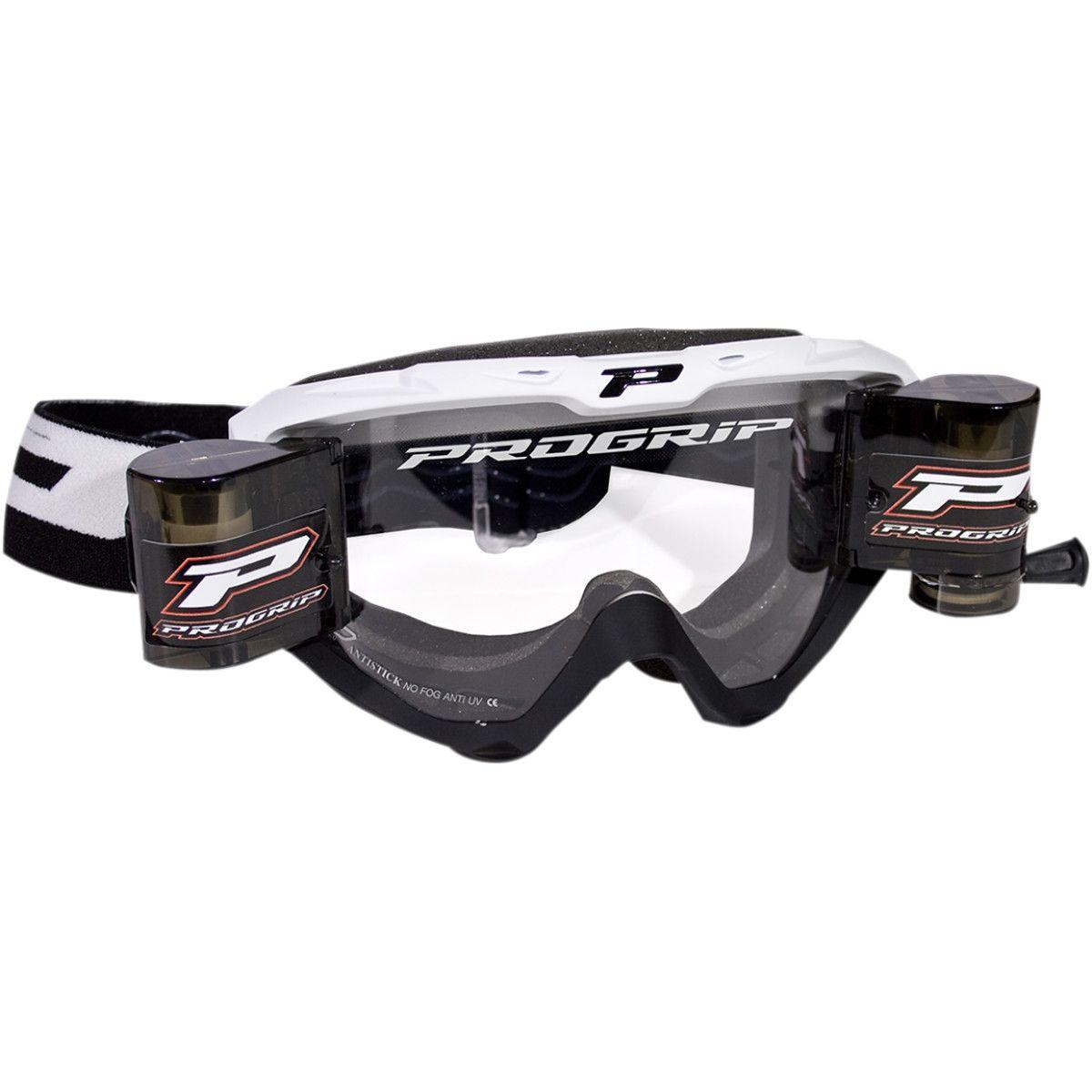 Progrip Crossbril 3450 Roll-Off fluor zwart/wit