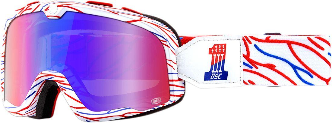 100% Crossbril Barstow Death Spray Customs Mirror Red/Blue