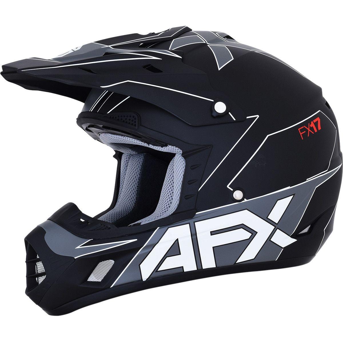 AFX Crosshelm FX-17 Matte Black/White