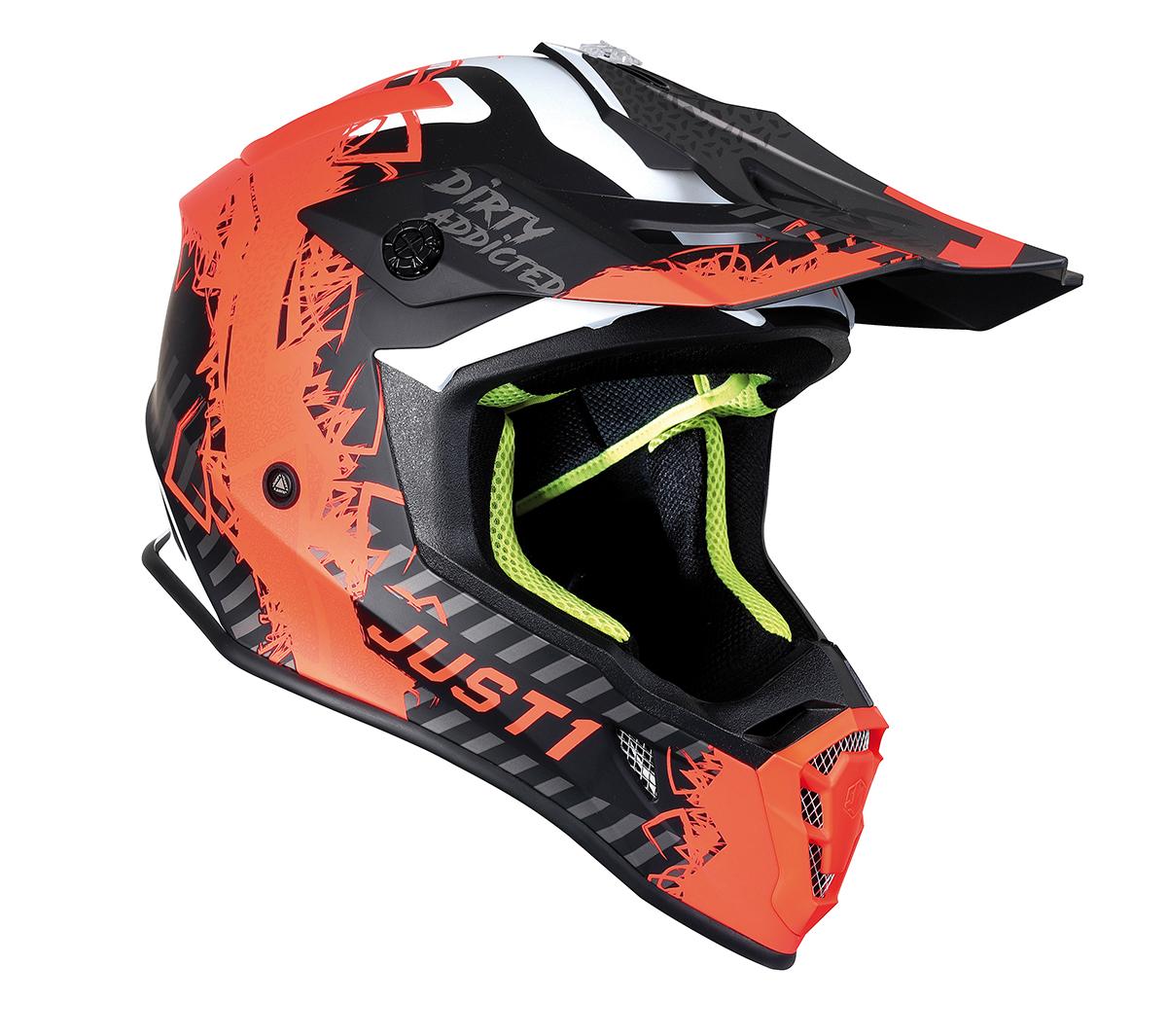 JUST1 Helmet J38 Mask Fluo Orange/Titanium/Black 60-L