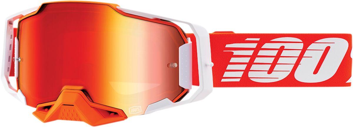 100% Armega Crossbril Regal Mirror Red