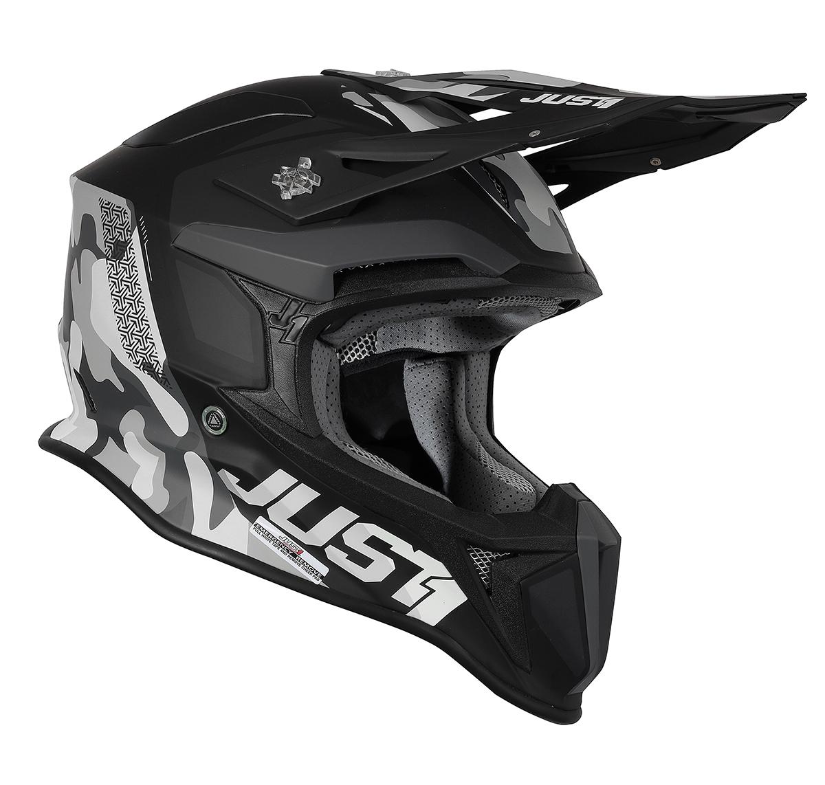 JUST1 Helmet J18 MIPS Pulsar Grey Camo/Black 60-L
