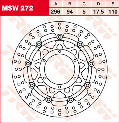 BRAKE DISC FL MSW272