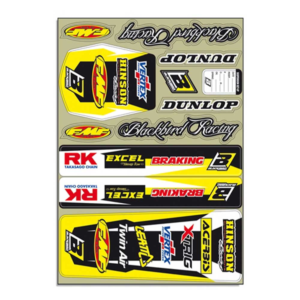 Blackbird Decal Logo Kits Yellow