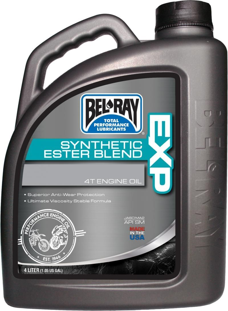 Bel-Ray EXP Synthetic Ester Blend 4T Oil 15W-50 4 Liter