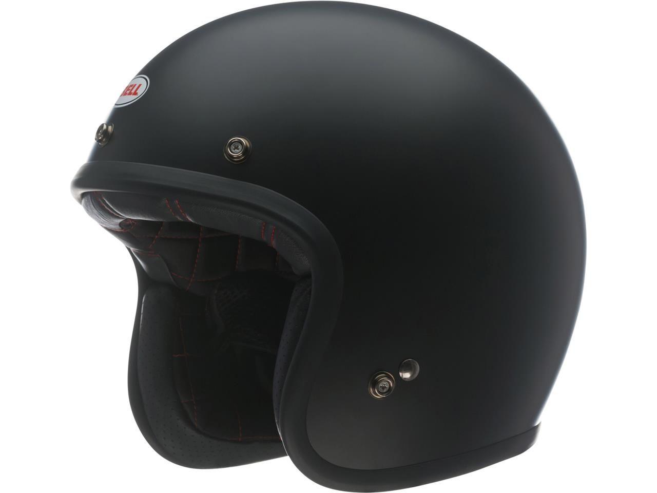 Bell Custom 500 DLX Jethelm Black Solid Gloss