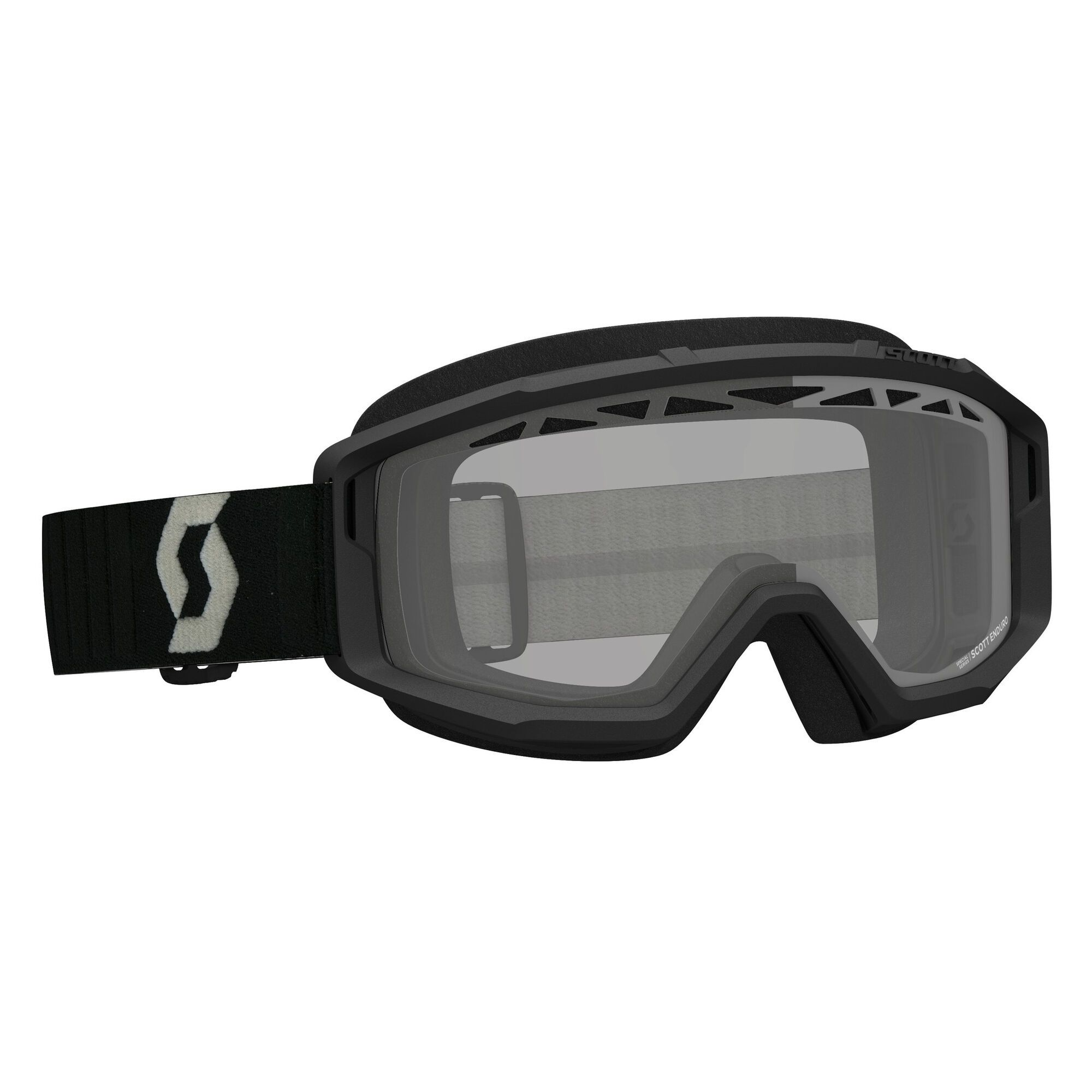 Scott Crossbril Primal Enduro (Double Ventilated Lens) Black/Grey