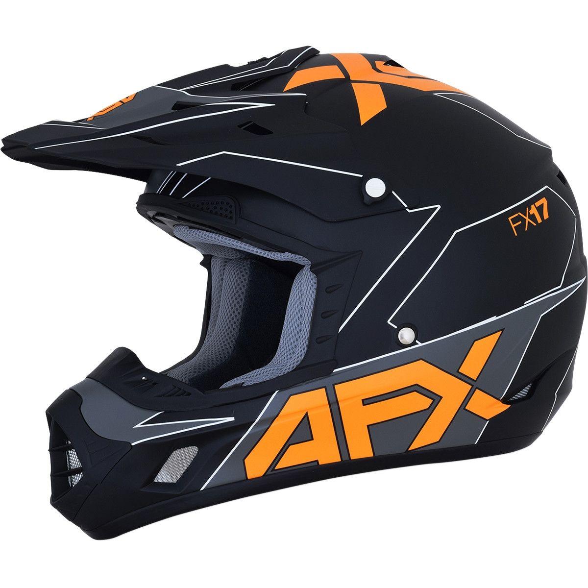 AFX Crosshelm FX-17 Matte Black/Orange