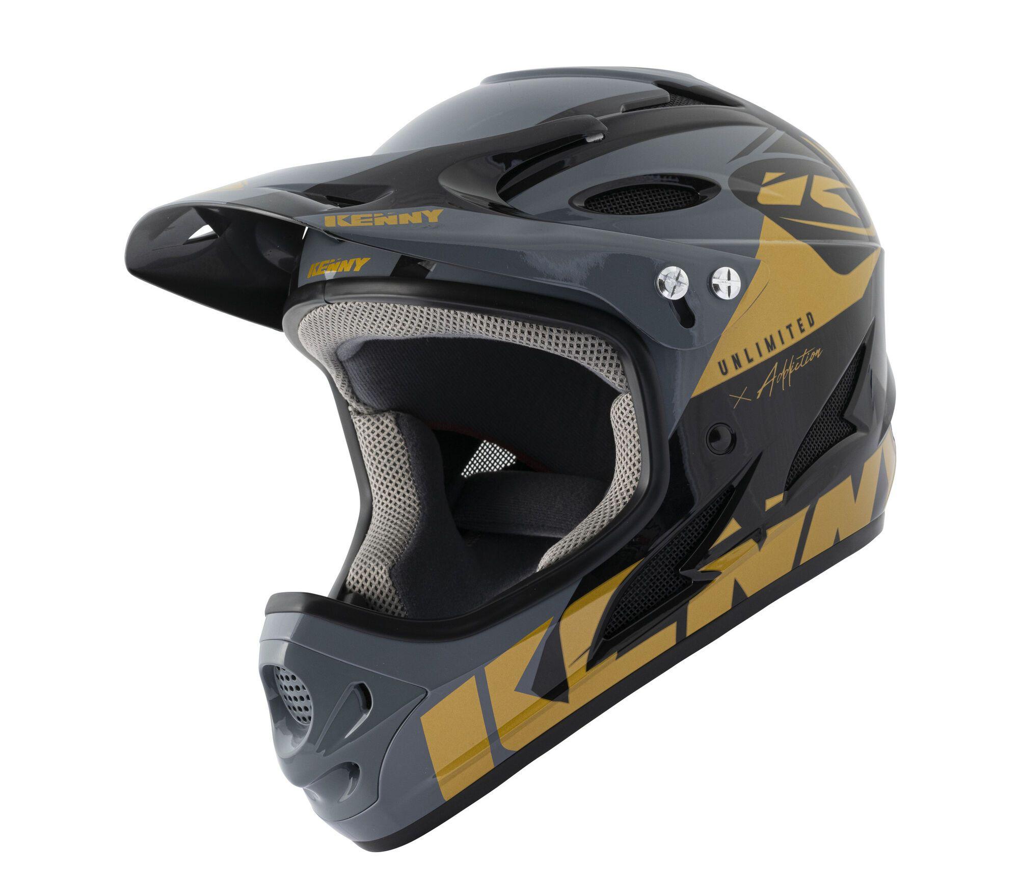 Kenny BMX Helm Downhill Black/Gold