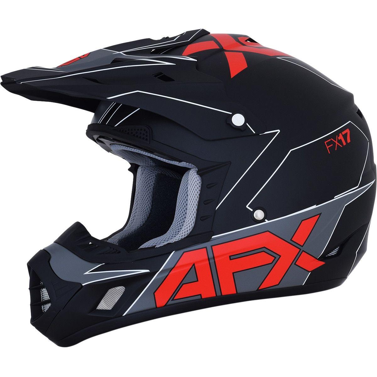 AFX Crosshelm FX-17 Matte Black/Red