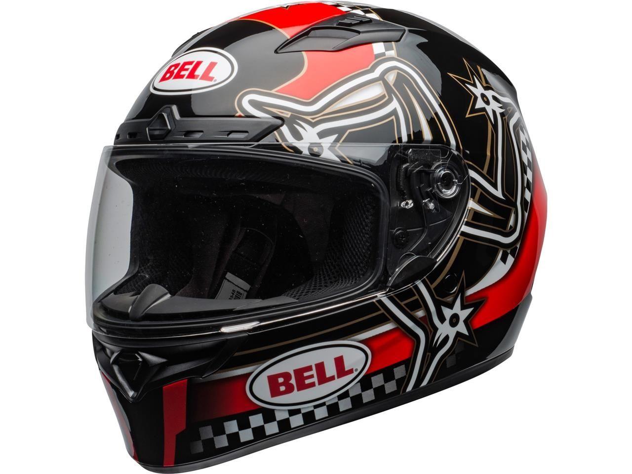 Bell Qualifier DLX Integraalhelm Isle of Man 2020 Gloss Red/Black