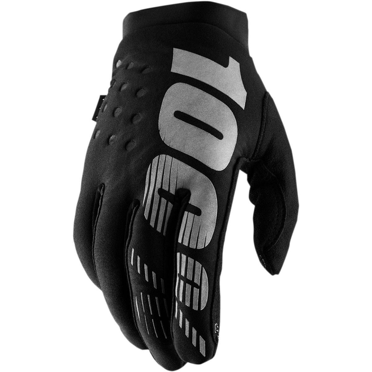 100% Brisker Dames Winter Handschoenen Black/Grey