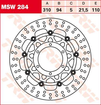 BRAKE DISC FL MSW284