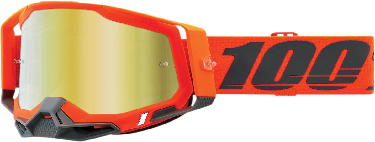 100% Crossbril Racecraft 2 Kerv Mirror Gold