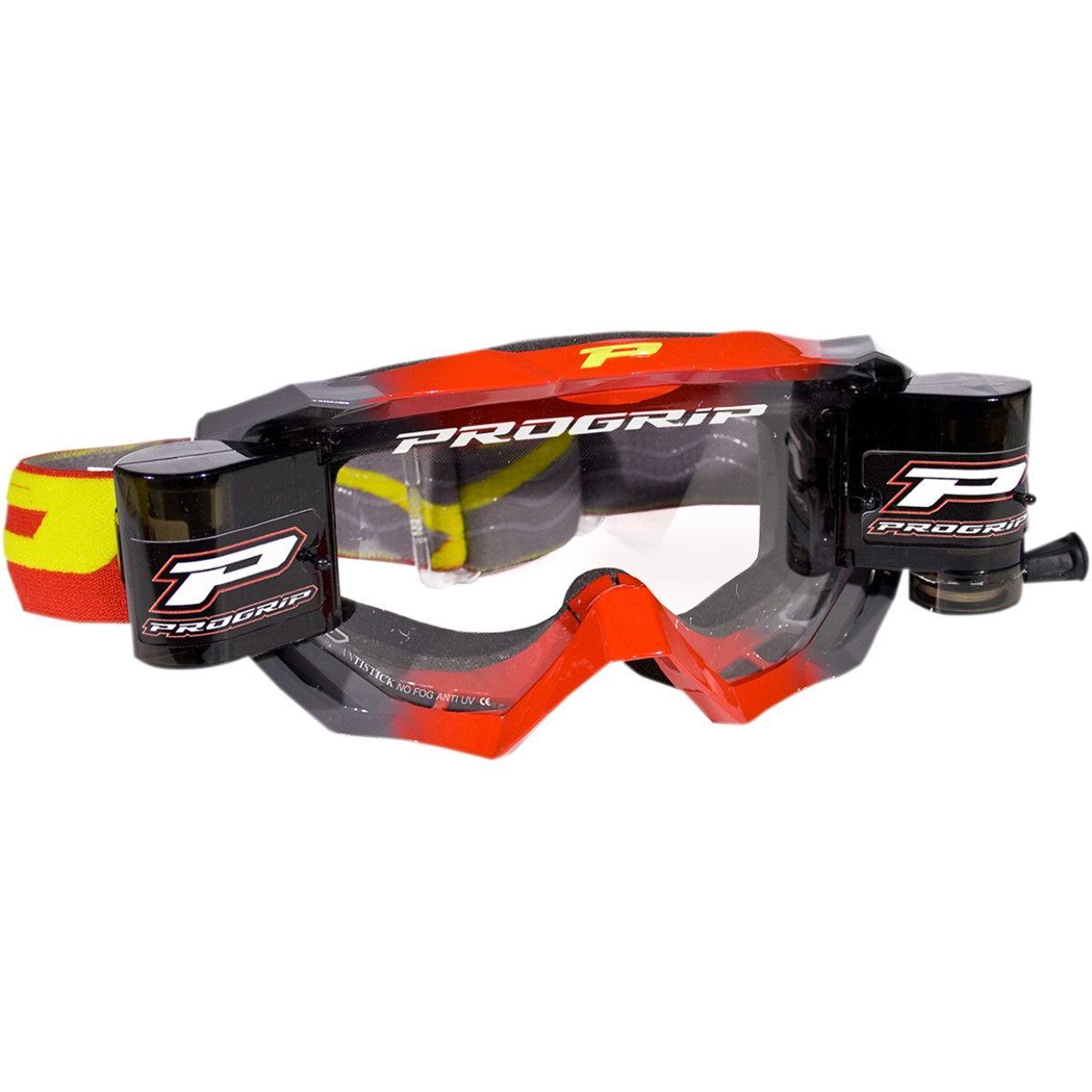 Progrip Crossbril 3200 Venom Roll-Off Rood/Grijs