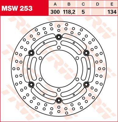BRAKE DISC FL MSW253