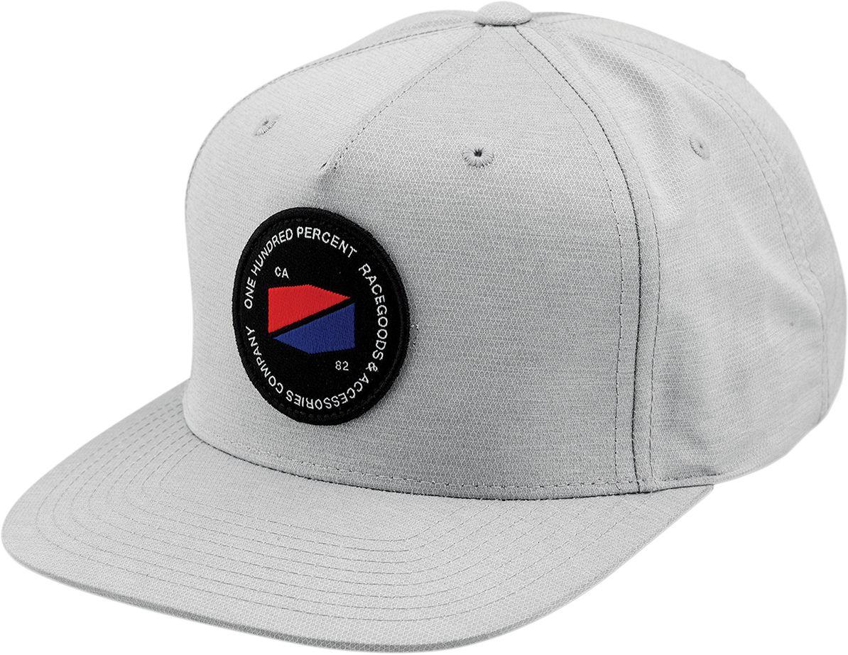 100% Pet Hats Jefferson Snapback Grey