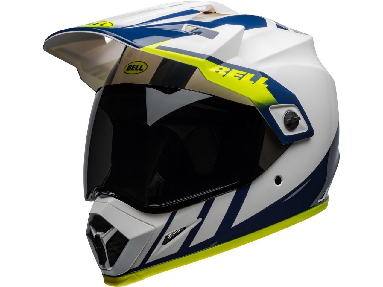Bell Crosshelm/Endurohelm MX-9 Adventure MIPS® Dash Gloss White/Blue/Hi Viz
