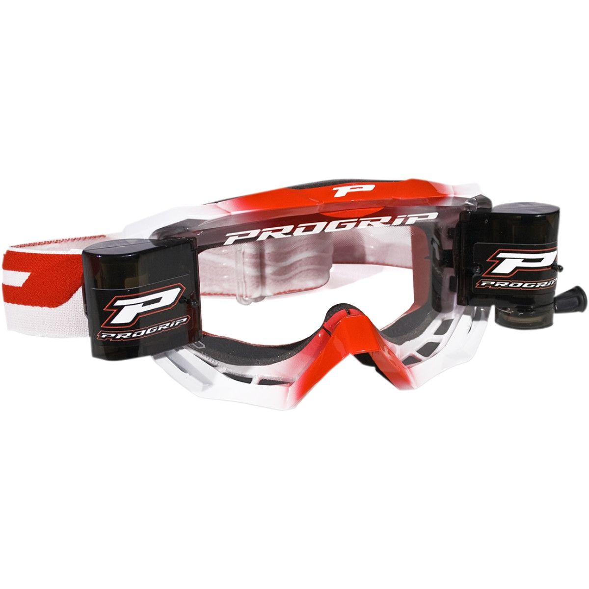 Progrip Crossbril 3200 Venom Roll-Off Wit/Rood