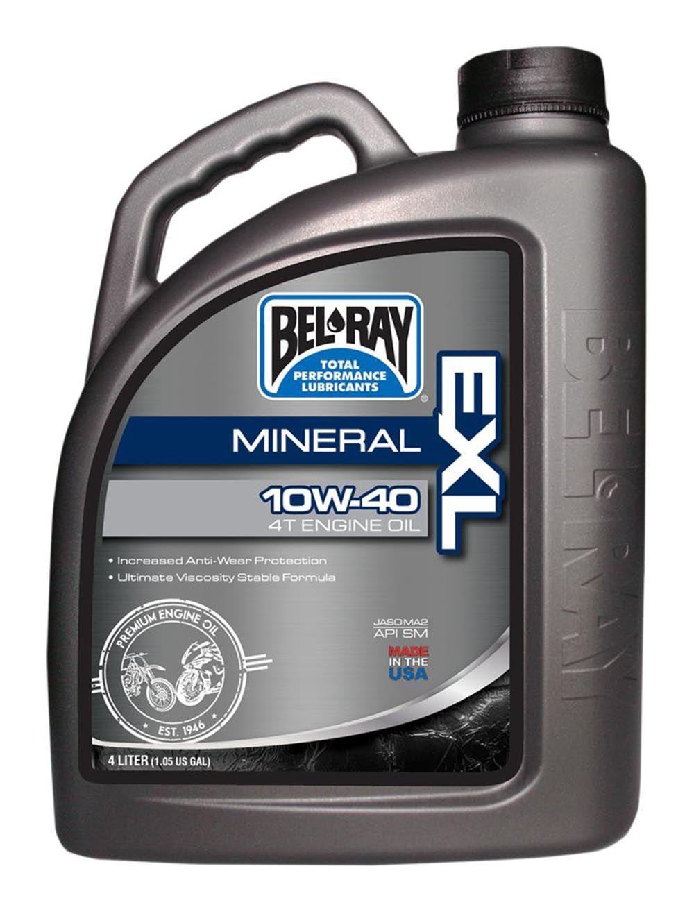 Bel-Ray EXL Mineral 4T Oil 10W-40-4 Liter